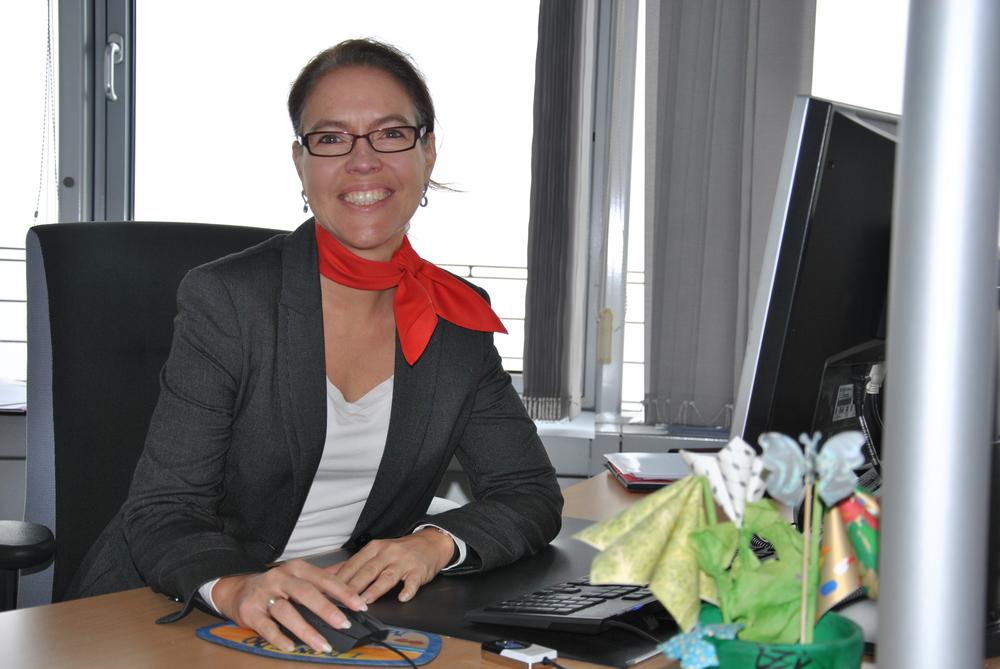 Frau Mittelstädt, Mitarbeiterin der Taunus Sparkasse
